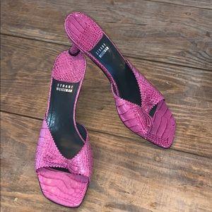 Stuart Weitzman | Pink Slip-on Kitten Heels